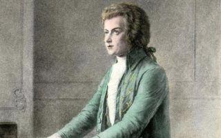 Хронологическая таблица моцарта (жизнь и творчество)