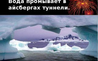 Айсберги — сообщение доклад