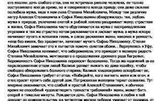 Аксаков — краткое содержание произведений
