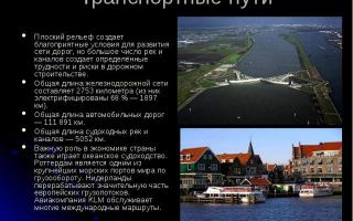 Нидерланды — сообщение доклад (3 класс, окружающий мир, 7 класс, география)