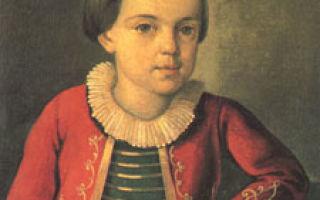 Детство и юность лермонтова — доклад сообщение