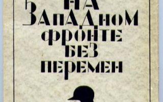 На западном фронте без перемен — краткое содержание романа ремарка