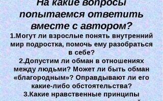 Обман — краткое содержание рассказа лиханова