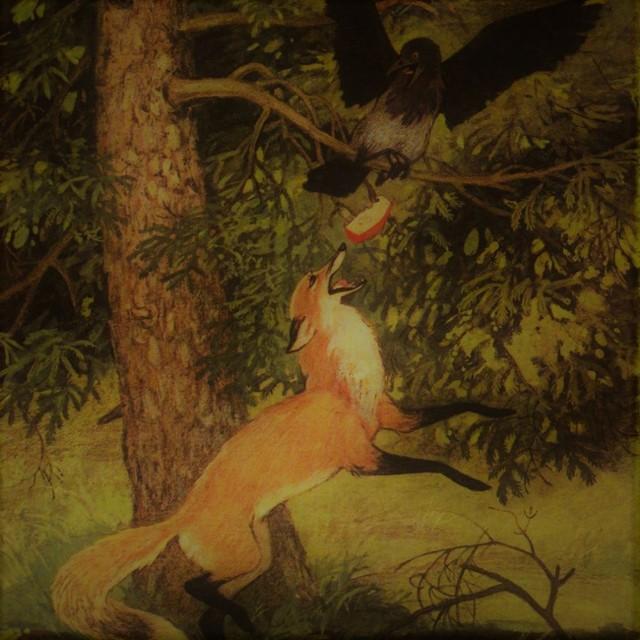 Ворона и лисица - краткое содержание басни Крылова
