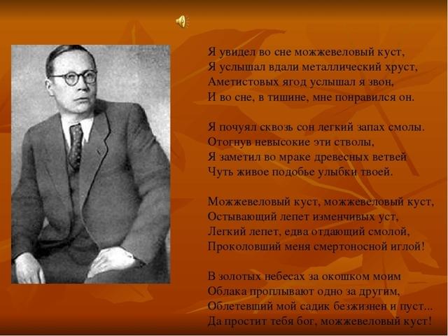 Анализ стихотворения Заболоцкого Можжевеловый куст