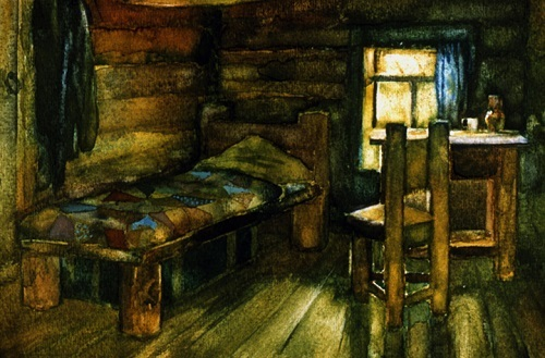 Описание каморки Герасима из рассказа Тургенева Муму (жилище, комнаты)