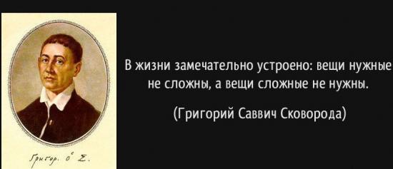 Григорий Сковорода - сообщение доклад