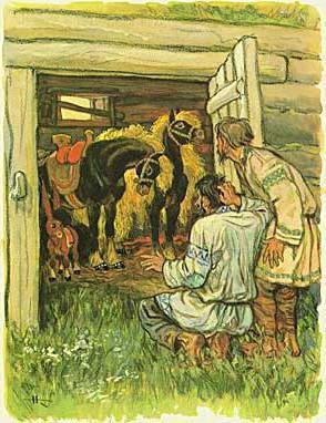 Конек-Горбунок - краткое содержание сказки Ершова