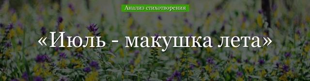 Анализ стихотворения Июль - макушка лета Твардовского