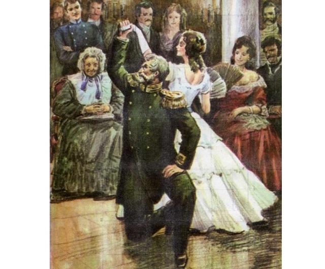 Характеристика полковника на балу и после бала и его образ сочинение