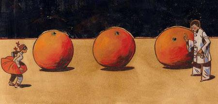 Любовь к трём апельсинам - краткое содержание пьесы Гоцци