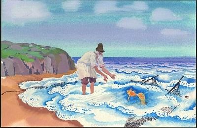 Сказка о рыбаке и рыбке (Золотая рыбка) - краткое содержание сказки Пушкина