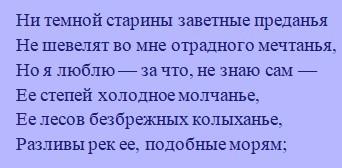 Родина - краткое содержание стиха Лермонтова