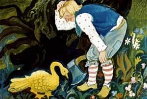 Золотой гусь - краткое содержание сказки братьев Гримм