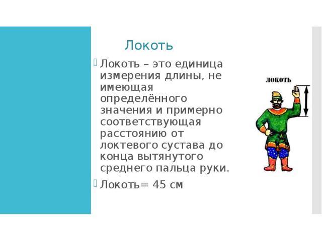 Старинные меры длины - сообщение доклад (5, 6, 7 класс)